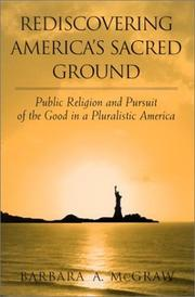 Cover of: Rediscovering America's Sacred Ground