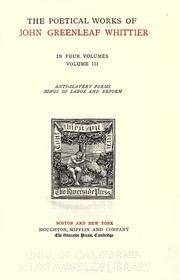 Cover of: The works of John Greenleaf Whittier