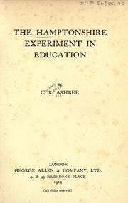 Cover of: The Hamptonshire experiment in education