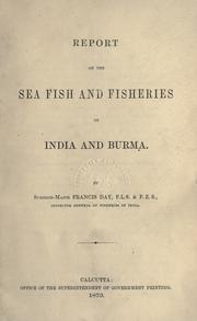 Cover of: Report on the sea fish and fisheries of India and Burma