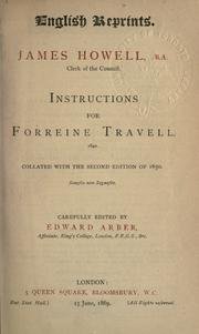Cover of: Instructions for forreine travell