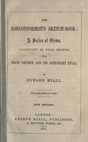 Cover of: The nonconformist's sketch-book