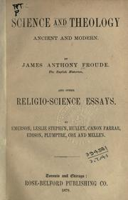 Cover of: Science and theology: ancient and modern