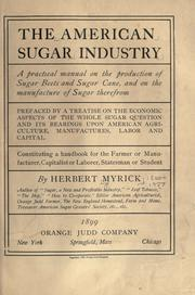 Cover of: The American sugar industry