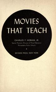Cover of: Movies that teach