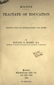 Cover of: Of education