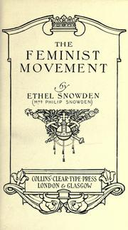 Cover of: The feminist movement