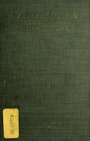 Cover of: Nature-notes and impressions, in prose and verse