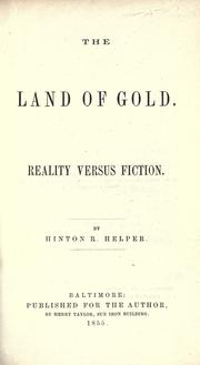 Cover of: The land of gold