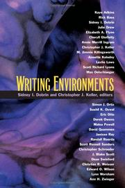 Cover of: Writing Environments |