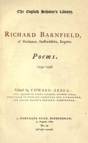 Cover of: Poems, 1594-1598