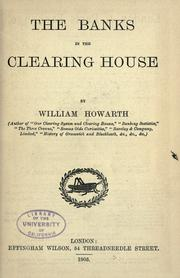 Cover of: The banks in the clearing house
