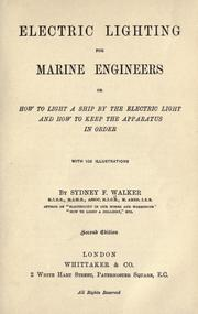 Cover of: Electric lighting for marine engineers