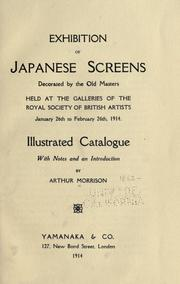 Cover of: Exhibition of Japanese screens decorated by the old masters