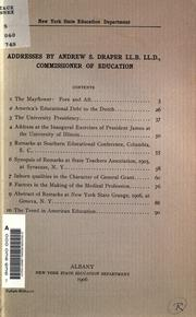 Cover of: Addresses