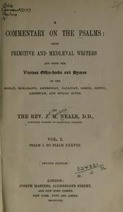 Cover of: A commentary on the Psalms