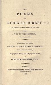 Cover of: The poems of Richard Corbet, late bishop of Oxford and of Norwich