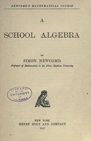 Cover of: A school algebra