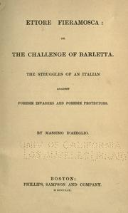 Cover of: Ettore Fieramosca