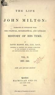 Cover of: The life of John Milton