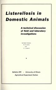 Cover of: Listerellosis in domestic animals