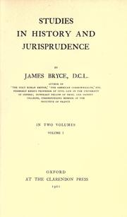 Cover of: Studies in history and jurisprudence