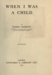 When I was a child by Yoshio Makino