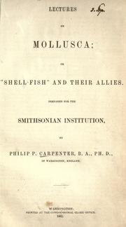 Cover of: Lectures on Mollusca | Carpenter, Philip P.