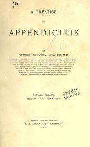 Cover of: A treatise on appendicitis