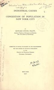 Cover of: Industrial causes of congestion of population in New York city