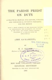 Cover of: The parish priest on duty by Herman J. Heuser