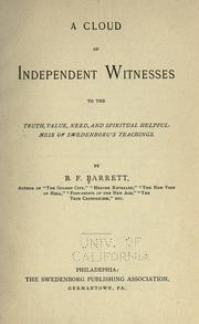Cover of: A cloud of independent witnesses by B. F. Barrett