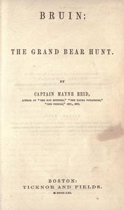 Cover of: Bruin: the grand bear hunt