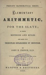 Cover of: Elementary arithmetic for the slate