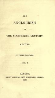 Cover of: The Anglo-Irish of the nineteenth century