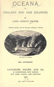 Cover of: Oceana: or, England and her colonies