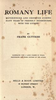Cover of: Romany life by Frank Cuttriss