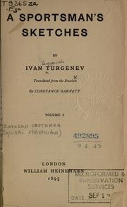 Cover of: A Sportsman's sketches | Ivan Sergeevich Turgenev