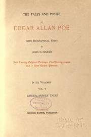 Cover of: Tales and poems