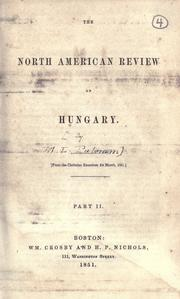 Cover of: The North American review on Hungary ... Part II