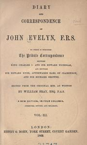Diary and correspondence of John Evelyn, F.R.S by John Evelyn