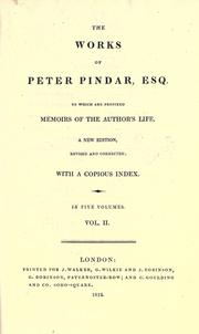 Cover of: The works of Peter Pindar, esq
