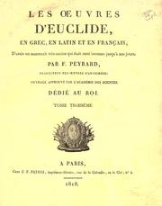 Cover of: Les œuvres d'Euclide