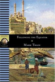 Cover of: Following the Equator: a journey around the world