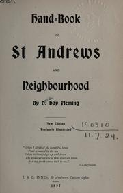 Cover of: Hand-book to St. Andrews and neighbourhood