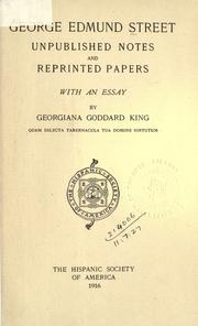 Cover of: Unpublished notes and reprinted papers