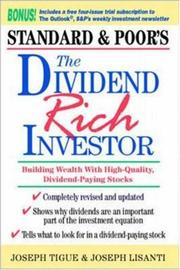 Cover of: The Dividend Rich Investor | Joseph Tigue