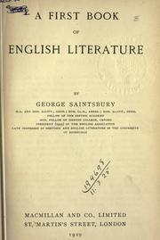 Cover of: A first book of English literature