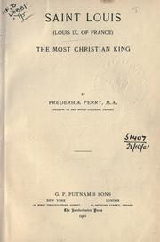 Cover of: Saint Louis (Louis IX of France): the most Christian king