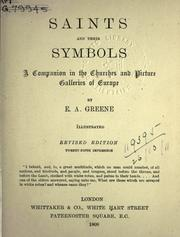 Saints and their Symbols by Greene, E. A.